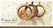 Beautiful rose gold, chocolate, & gold lockets