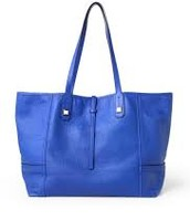 Paris Market Tote - Leather - Cobalt