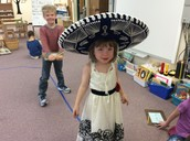 Walking the line with the sombrero.