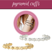 pyramid stud cuffs