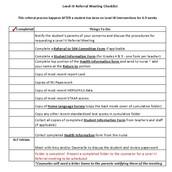 RtI Checklist