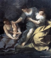 Thetis dipping Achilles