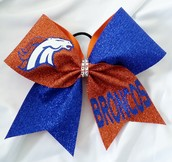 Broncos Cheer Bow