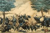 Union troops in bull run