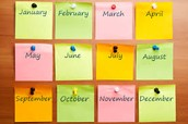 1st Semester Unit Calendars