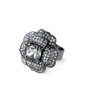 Belle Fleur Ring - Hematite