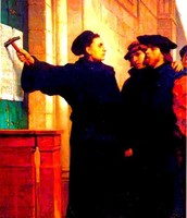 Luther fighting the Church