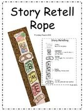 """Retelling """"Ropes"""" (Sentence Strips)"""
