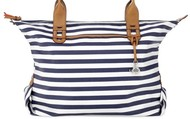 How Does She Do It Bag- Navy Stripe