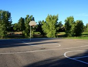 You can play outdoor basketball