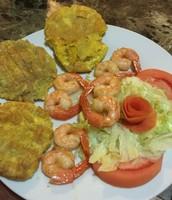 Shrimp & Tostones :P