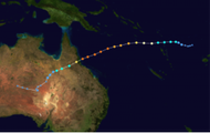 What was the pathway of Yasi and how did this affect the cyclone?