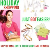 Host a holiday trunk show!  Have fun with your friends and earn free jewelry too!