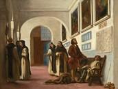 Christopher Columbus and His Son at La Rabida