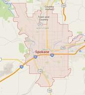 Map of Spokane