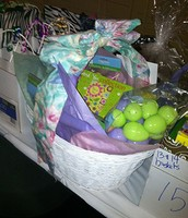 Conference gift baskets are for door prize winners!
