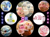 Items you can choose in Pink or Blue
