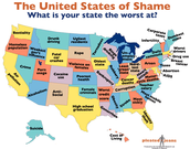 "United States ""Worst at"" (Deviant) map"