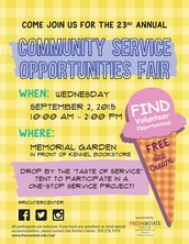 23rd Community Service Opportunities Fair