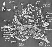 Defined map of Angel Island