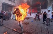 A man in Chiapas sets himself on fire to protest against the Mexican Government