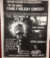 A Flyer Announcing the Amazing Family Concert we had to raise money for Astrocamp!