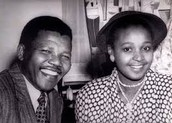 Nelson Mandela wife Winnie Mandela and him