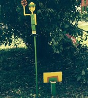 Basketball Player Lawn Ornament