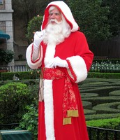 Pere Noel arrives in France in a parade on December 6th