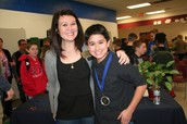 Brandon Li and Mrs. Wittmus