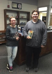 Students Escape the Cold with a Good Book