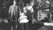 Milton with his family.