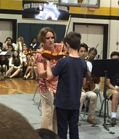 Jackson performs during his 5th grade orientation at NBMS!