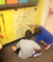 Signing the AWESOME Board!