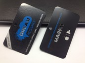 Barclays Bank Promotional Black Metal Cards