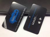 Barclays Bank Promotional Black Metal Cards