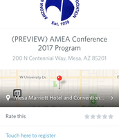 Conference Homescreen