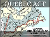 The map of the Quebec act.