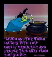 Laughing is contagious... Crazy may be too.