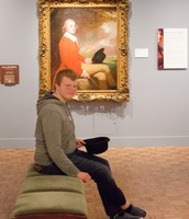 An MVCA student mimicking a painting.