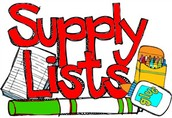2016-2017 School Supply List