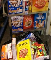 Cereals are a big demand at the Food Pantry