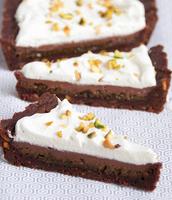 Milk chocolate pistachio tart