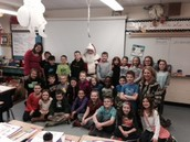 Classroom pics with Santa