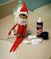 well I'v got a elf on the shelf and she's all over the place look