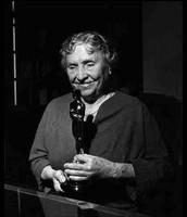 Helen receiving an award