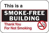 NO SMOKING IN BUILDINGS!