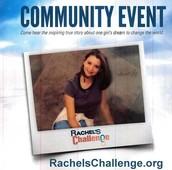 RACHEL'S CHALLENGE is coming to Crowley ISD...