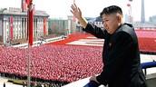 Kim adressing crowd