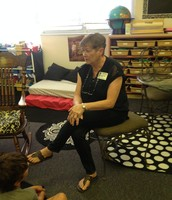My mom, Jamey Wiggs, visiting the class Monday
